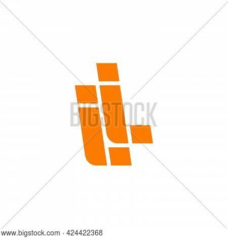 Simple Geometric Letter Li Line Logo Vector