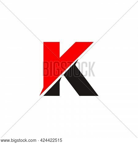Letter Vk Simple Logo Vector  Unique Unusual Brand Identity For Your Product Company