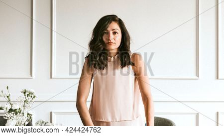 Successful empowering woman in the office