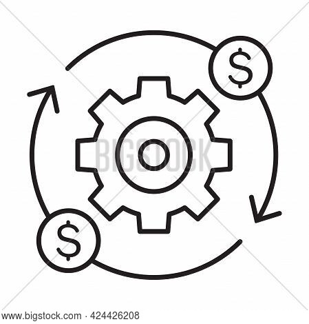 Production Efficiency Icon Vector Costs Optimization Symbol For Graphic Design, Logo, Web Site, Soci