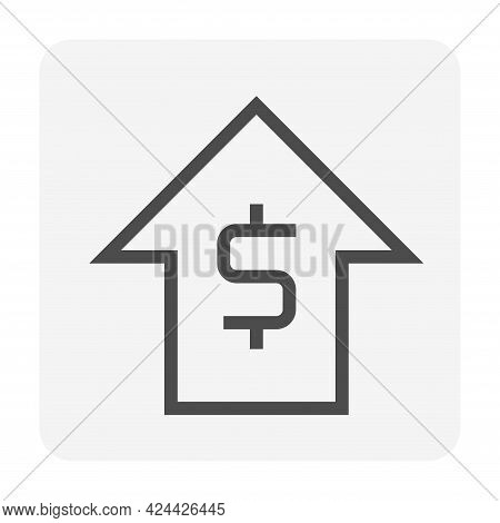 Money Value Increase Vector Design. That Icon, Sign Or Symbol Of Dollar And Big Rise Up Arrow For Bu