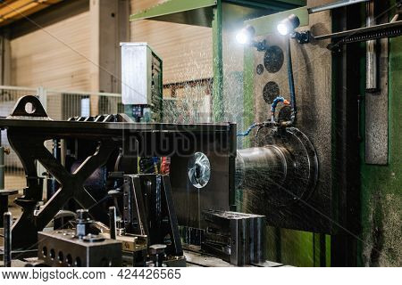 CNC milling machine in metal working factory