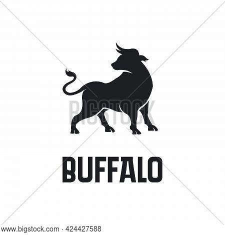 Black Buffalo Or Bison Logo Exclusive Design Inspiration