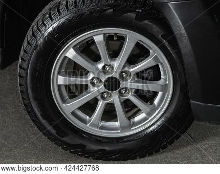 Novosibirsk, Russia - June 19, 2021: Mitsubishi Asx, Close-up Of The Alloy Wheel. Photography Of A M