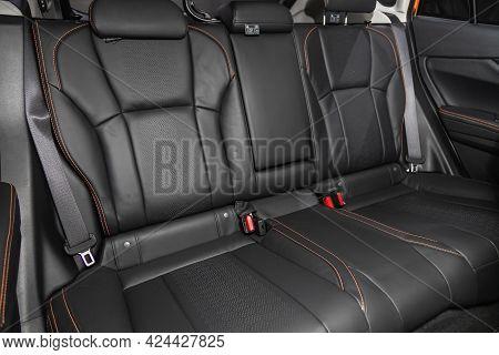Novosibirsk, Russia - June 19, 2021: Subaru Xv, Leather Interior Design, Car Passenger  Seats With S