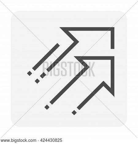 Going Up Arrow Vector Design. That Icon, Sign Or Symbol With Upward Direction. Concept For Growth, S