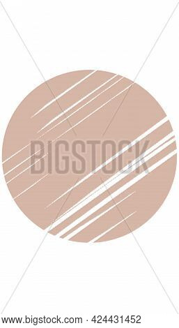 Cute Beige Circle Story Template, Elegant Story Highlight, Aesthetic Background