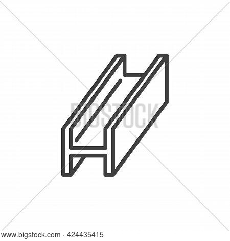 Steel Beam Line Icon. Linear Style Sign For Mobile Concept And Web Design. Metal Beam Outline Vector