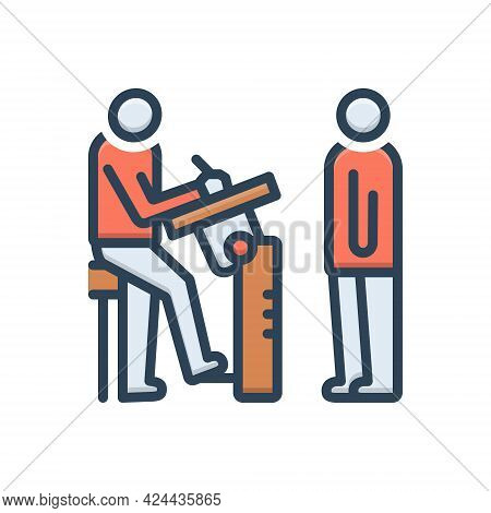Color Illustration Icon For Immobile Stable Static Constant Stagnant Stationary Physical-test