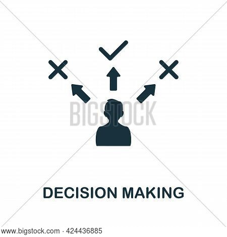 Decision Making Icon. Monochrome Simple Element From Soft Skill Collection. Creative Decision Making