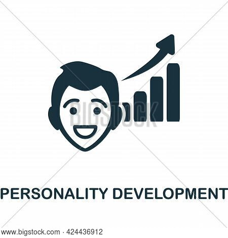 Personality Development Icon. Monochrome Simple Element From Soft Skill Collection. Creative Persona