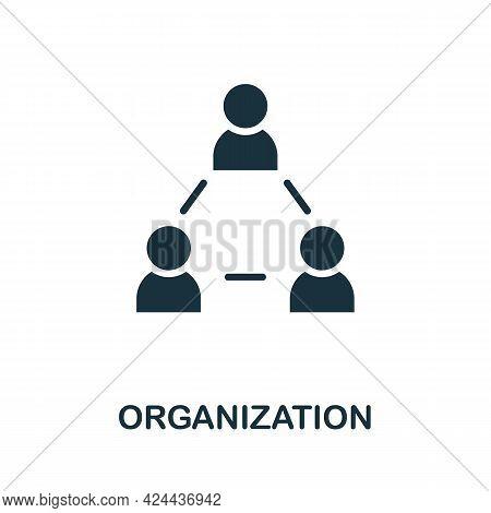 Organization Icon. Monochrome Simple Element From Soft Skill Collection. Creative Organization Icon