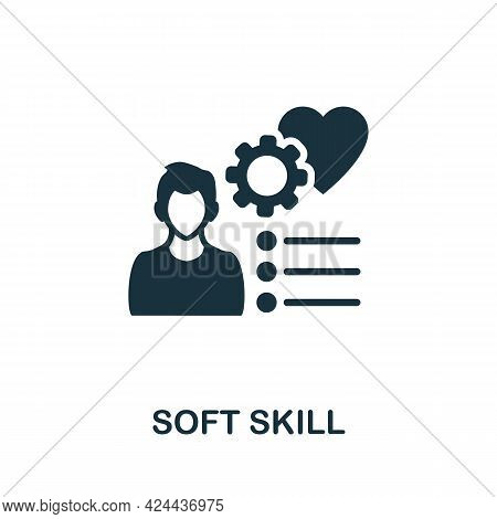Soft Skill Icon. Monochrome Simple Element From Soft Skill Collection. Creative Soft Skill Icon For