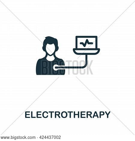 Electrotherapy Icon. Monochrome Simple Element From Therapy Collection. Creative Electrotherapy Icon