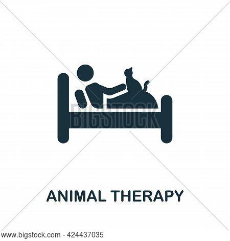 Animal Therapy Icon. Monochrome Simple Element From Therapy Collection. Creative Animal Therapy Icon