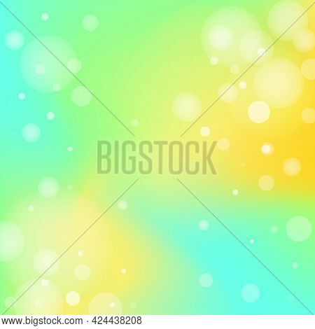 Fresh Smooth Colorful Transitions And Air Dots Background. Modern Screen Blurred Gradient Mesh Banne