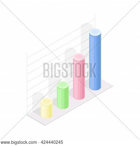 Profit Chart Or Graph As Financial Accounting And Summary Isometric Vector Composition
