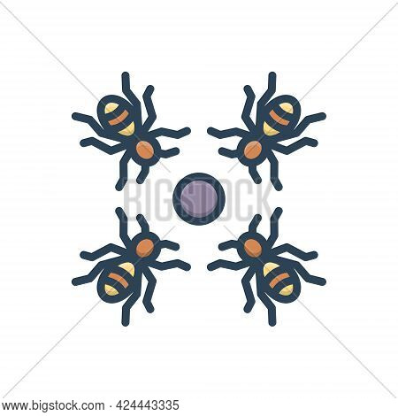 Color Illustration Icon For Inroad Invasion Aggression Onslaught Terrorists