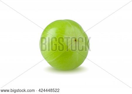 Indian Gooseberry Isolated On A White Background.