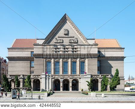 Prague, Czech Republic - July 23, 2019: Faculty Of Law, Charles University. Established In 1348.