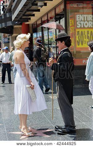 Charlie Chaplin And Marilyn Monroe
