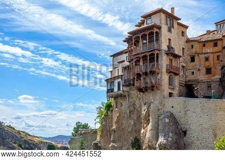 Casas Colgadas - Hanging houses in Cuenca, Castilla-La Mancha, Spain. Landmark
