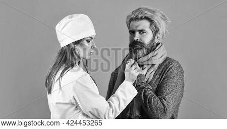 Doctor Patient Consultation. Giving Medicines. Medical Worker Examining Patient. Patient Care. Diagn