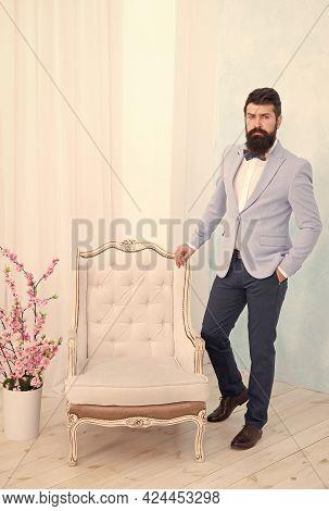 Gentleman Elegant Man Wear Classic Suit Bow Tie, Menswear Boutique Concept