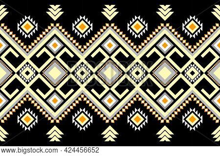 Oriental Ethnic Seamless Pattern Traditional Background Design For Carpet,wallpaper,clothing,wrappin