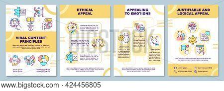 Viral Content Principles Brochure Template. Ethical Appeal. Flyer, Booklet, Leaflet Print, Cover Des