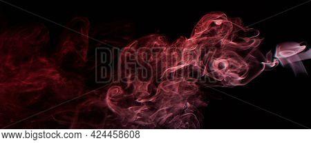 Abstract Smoke Red Swirls