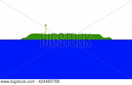 Navassa Island Flag In Real Proportions And Colors, Vector