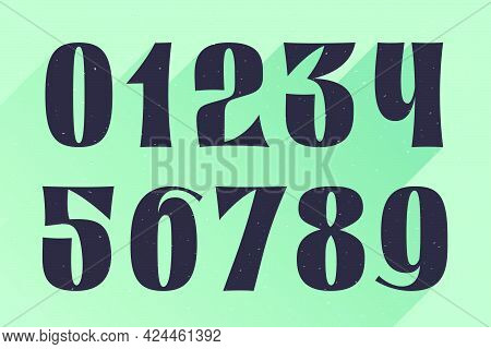 Numbers Set Logo For Your Fun And Happy Design Projects. You'll Get A Playful Font For Fun Advertisi