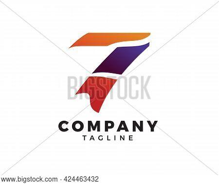 Number Seven Logo, Logo 7 Vector Template, Logo 7