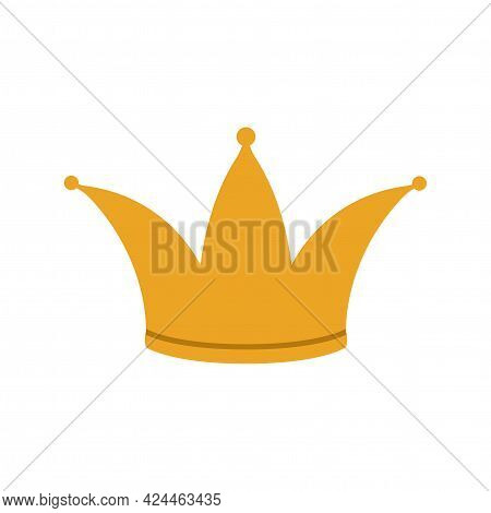 Vector Illustration Of A Golden Royal Crown On A White Background.