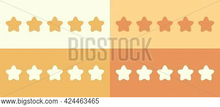 Five Star Rating. Vector Illustration Of A Positive Rating.