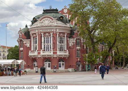 Varna, Bulgaria - May 15 2019: The Stoyan Bachvarov Dramatic Theatre Was Founded In 1921 As The Muni