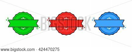 Set Of Badge. Vector. Stamp Icons. Certified Badges Logo. Stamps Template. Label, Sticker, Icons. Ve