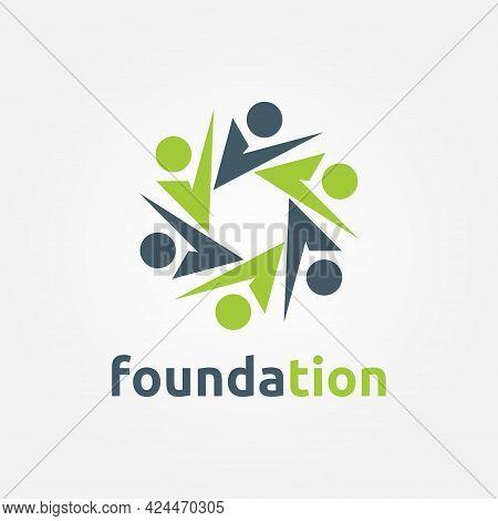 Foundation Logo Template Design. Social Network Vector Illustration