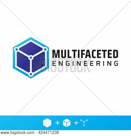 Multifaceted Engineering Company Logo Design. Fit For Development Company, Consultant, Provider Serv