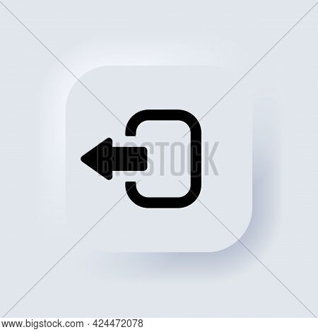 Exit Button. Arrow Logout. Logout And Output, Outlet, Out Symbol. Elements For Mobile Concepts And W