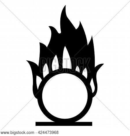 Beware Oxidizing Substance Symbol Isolate On White Background,vector Illustration Eps.10
