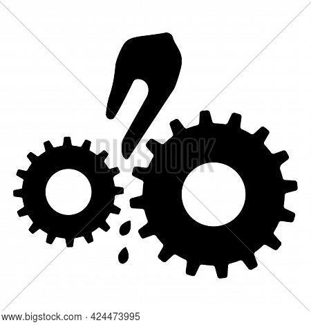 Moving Machinery Symbol Isolate On White Background,vector Illustration Eps.10