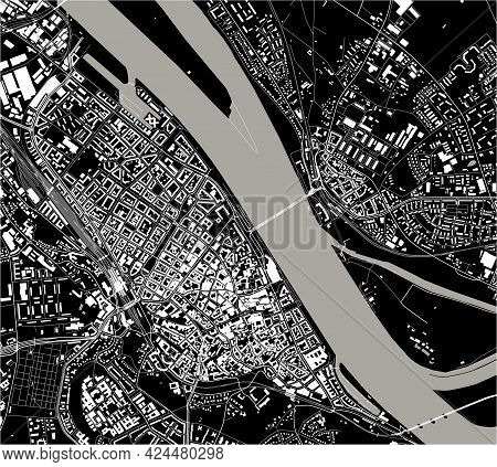 Map Of The City Of Mainz, Germany