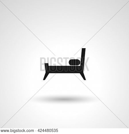 Bed Sign. Bed Isolated Simple Vector Icon