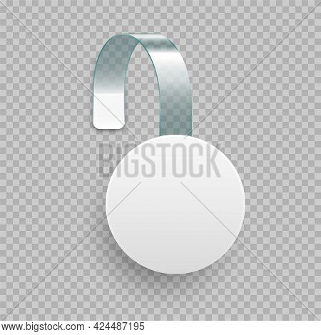 Supermarket Promotional Wobbler. Realistic Vector Template For Shelf Advertising. Sale Or Discount L