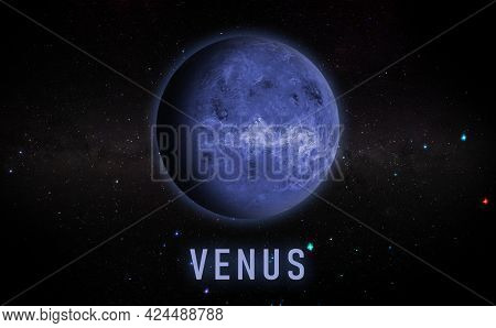 Venus Planet In The Space, Galaxy Science Creative Art Background Elements Of This Image Furnished B