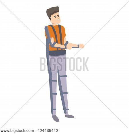 Functional Exoskeleton Icon. Cartoon Of Functional Exoskeleton Vector Icon For Web Design Isolated O