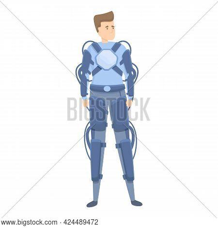 Upgraded Exoskeleton Icon. Cartoon Of Upgraded Exoskeleton Vector Icon For Web Design Isolated On Wh