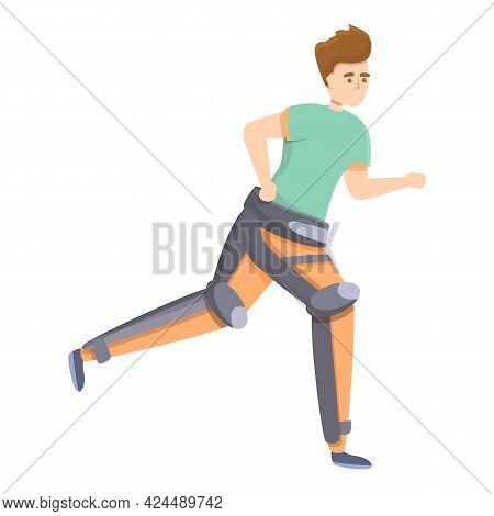 Therapeutic Exoskeleton Icon. Cartoon Of Therapeutic Exoskeleton Vector Icon For Web Design Isolated